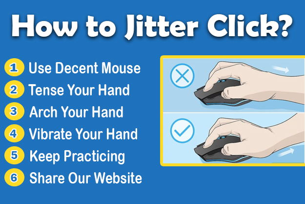 how to jitter click