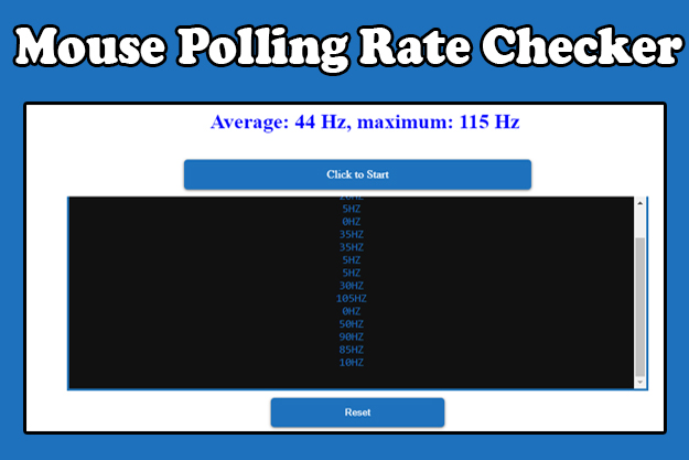 mouse rate checker